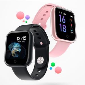 Image 1 - T80 kadın erkek su geçirmez akıllı bluetooth saat Smartwatch Apple IPhone Xiaomi nabız monitörü spor izci