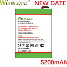 Wisecoco HB417094EBC 5200mAh New High quality Battery For Huawei Ascend Mate 7 Mate7 MT7 TL00 TL10 UL00 CL00 Phone Replacement
