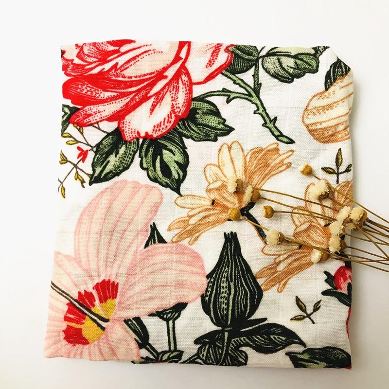 newborn  organic cotton bamboo muslin swaddle wrap