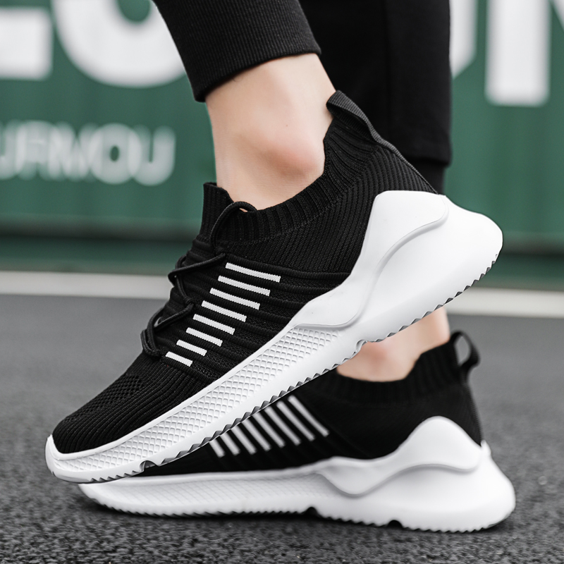 Man Air Mesh Sock Shoes Summer Outdoor Breathable Road Running Shoes Cloudfoam Jogging Shoes Basketball Slip On Walking Sport