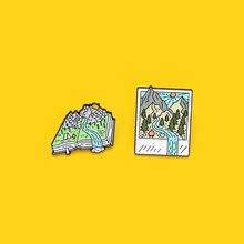 Альбом для фотографий «горный лес» эмалированные булавки кемпинга