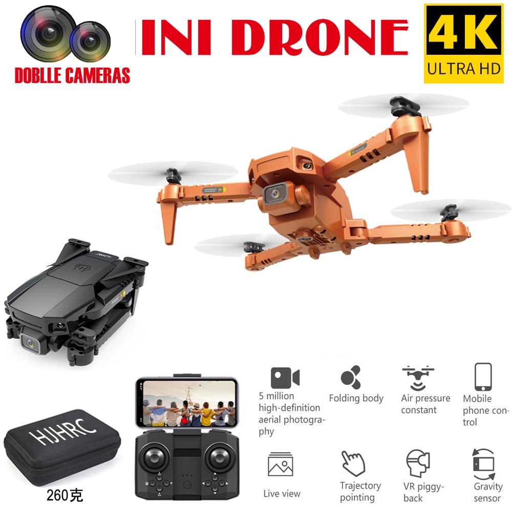 Mini Drones HJ78 Drone 4K HD Dual Camera WIFI FPV Smart Selfie RC Uav Foldable Quadcopter 4 Channels Professional Drone Aircraft