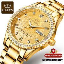 2021 Nieuwe Olevs Top Brand Mechanische Mannen Horloge Luxe Automatische Black Herenhorloge Automatische Mannelijke Ciga Ontwerp Designer Horloge tag