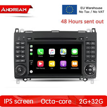 Android 8.1 2G+32G Built-in carplay 2Din CarDVD Player IPS for Mercedes Benz Sprinter W169/Viano/Vito/B200 GPS Navigation H