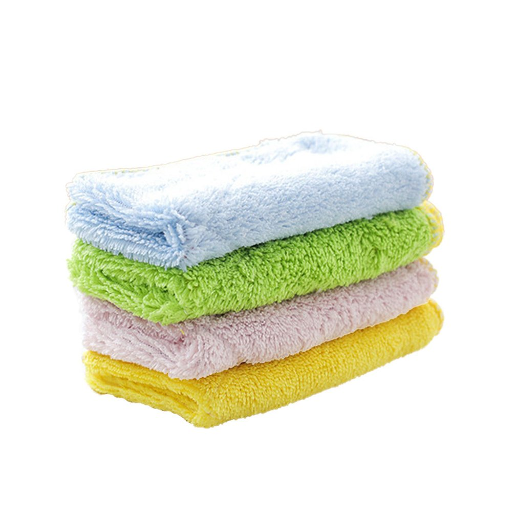 Absorbent Microfiber Washing Towel Anti-grease Dish Cloth Double Sided Practical Kitchen Cleaning Wiping Rag