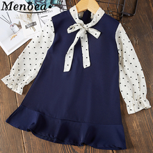 Menoea Girls Dress 2019 New Style Children Clothes Dress Summer Sleeveless Hollow halter Kids Bow Baby Princess Clothing Dress menoea girls dress 2017 new summer lolita style striped dress bow sleeveless turn down collar design for baby girls dress 2 6y