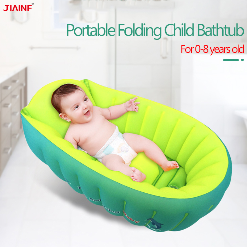 Baby Bath Tub Inflatable Newborn Shower Tubs Portable Folding Bathtubs Support Seat Infant Childish Kids Wash Bathing Pool