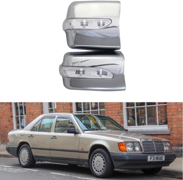 Для Mercedes Benz W124 1984 1996 высокое качество 2 шт. ABS хром plateddoor зеркало заднего вида крышки с Led Автомобильные аксессуары|Зеркала и крышки|   | АлиЭкспресс