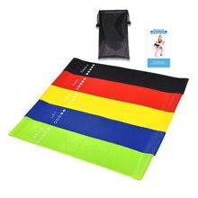 5pcs elastici di resistenza di Yoga attrezzature per il Fitness all'aperto al coperto Pilates Sport allenamento allenamento fasce elastiche
