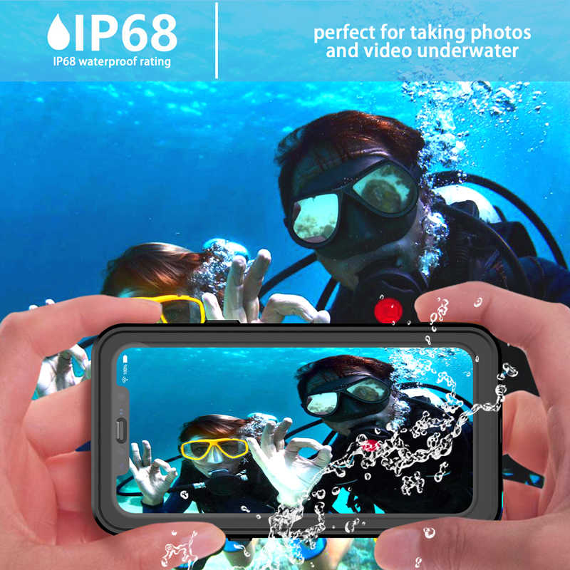 Redpepper IP68 Ốp Lưng Chống Nước Dành Cho iPhone 11/11 Pro Max XR XS Max 7 8 Plus Dưới Nước 3 M Nước chứng Minh Chống Sốc Ốp Lưng Cứng