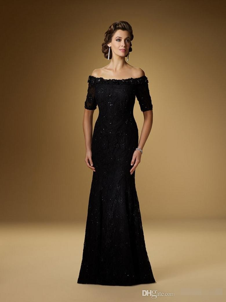 Fashion Lace Floor Length Mermaid Half Sleeve Brides Mother of the Bride Groom Dresses Pant Suits Plus Size for Weddings