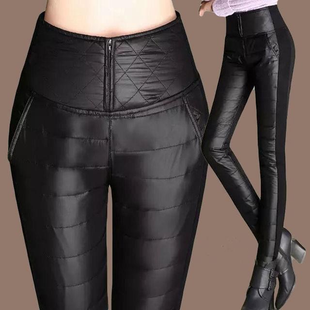 Winter Thicken down Cotton Warm Pants Women Streetwear jogger pants korean fashion plus size 4XL sweatpants women 1