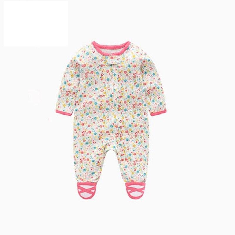 Комбинезон для маленьких девочек с рисунком единорога; зимняя одежда для новорожденных мальчиков с длинными рукавами; 0-12 месяцев; с круглым вырезом; на молнии; - Цвет: 8