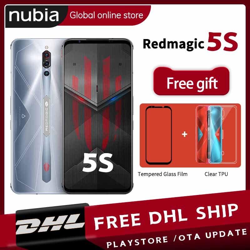 Глобальная версия Nubia Red magic 5S, игровой смартфон Redmagic 5S, 5G, игровой мобильный телефон Snapdragon 865 NFC 6,65