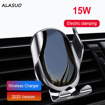 15W Qi Car Wireless Charger Automatic Induction For Iphone Redmi Xiaomi Mobile Phone Air Vent Mount Car Charger Holder 2in1