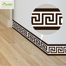 Funlife10*200cm Geometric Pattern Waist Lines Self -Adhesive Waterproof Removable Wall Border Stickers for Home Decoration BS010
