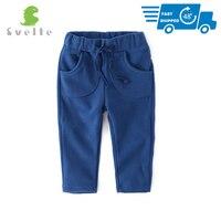 Anne ve Çocuk'ten Pantolon'de SVELTE çocuklar erkek kız rahat pantolon pantolon İlkbahar sonbahar Unisex Polar Polar pantolon çocuk spor pantolonlar için 1 4Y