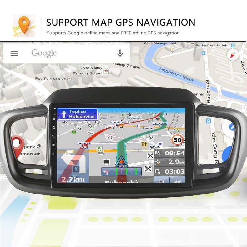 أندرويد 8.1 مشغل أسطوانات للسيارة لتحديد المواقع لاعب الملاحة لكيا سورينتو UM 2015-2019 راديو السيارة مشغل وسائط متعددة بلوتوث ستيريو
