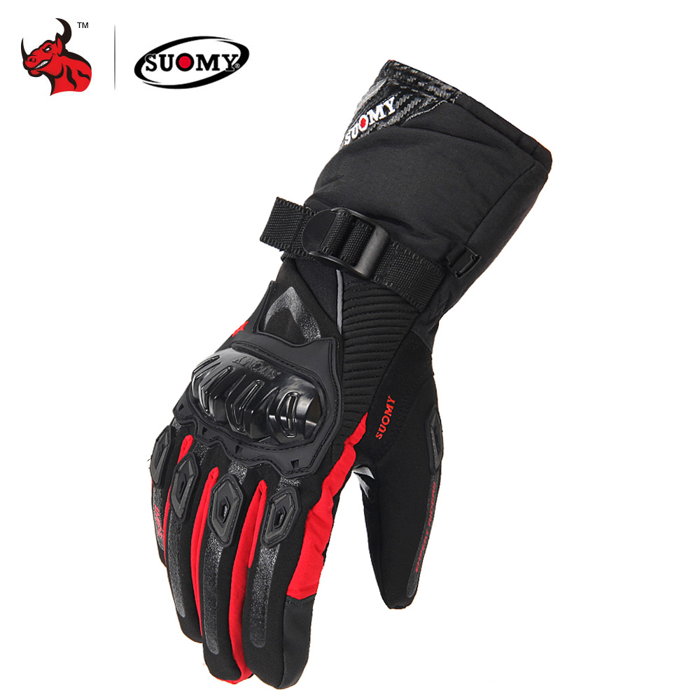 SUOMY Motorcycle Gloves Men 100% Waterproof Windproof Moto Gloves Touch Screen Gant Moto Guantes Motorbike Riding Gloves