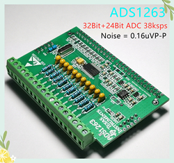 ADS1263 32-bit ADC Thermocouple Load Cell Strain RTD PT100 High Precision