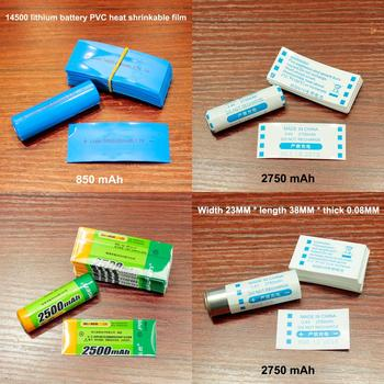100pcs/lot 14500 lithium battery heat shrinkable sleeve PVC shrink film AA/5 cover replacement package