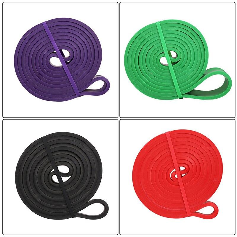 Эластичная Эспандер для упражнений, эластичная лента для фитнеса, пилатеса, домашних тренировок, 208 см-3