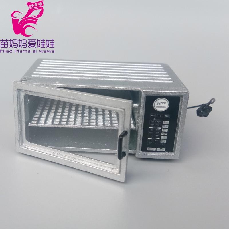 mini bakinig box roaster Coffee machine Vintage ceramic lamp for barbie doll blythe doll acessories doll house furniture(China)