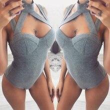 Women Bodysuit 2020 Summer Bodycon Bodysuit Rompers Womens S