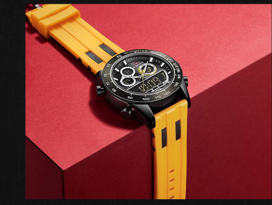 Naviforce 9188 Rubber Belt Sport Watch 7