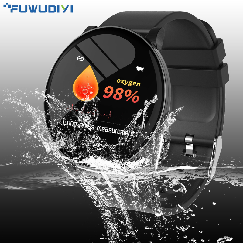 FUWUDIYI S8 Women Smart Watch Fitness Tracker Heart Rate Monitor Smartwatch Men Blood Pressere Blood Oxygen Fitness Bracelet