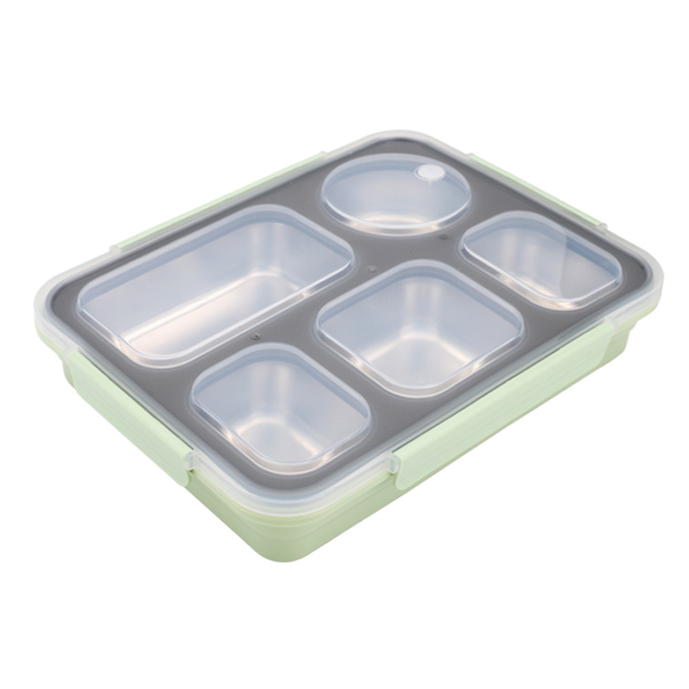 Leakproof Lunch Box Food Containers with Compartments 304 Stainless Steel Lunchbox Office School Kids Bento Box with Spoon in Lunch Boxes from Home Garden