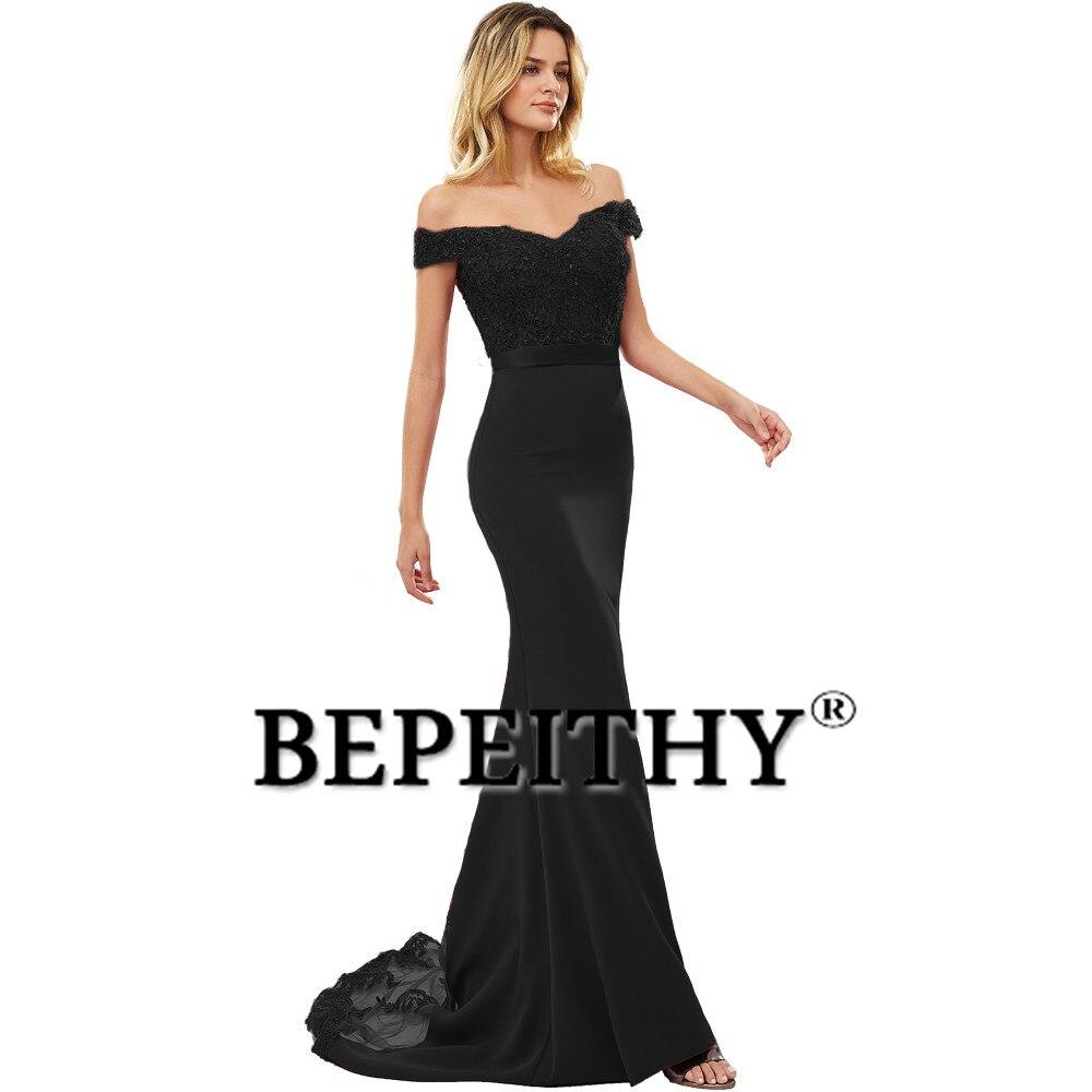 BEPEITHY Robe De soirée sirène bourguignonne longue Robe De soirée parti élégant Vestido De Festa longue Robe De bal 2019 avec ceinture - 5