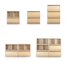 Children's room storage cabinet multi-layer combination