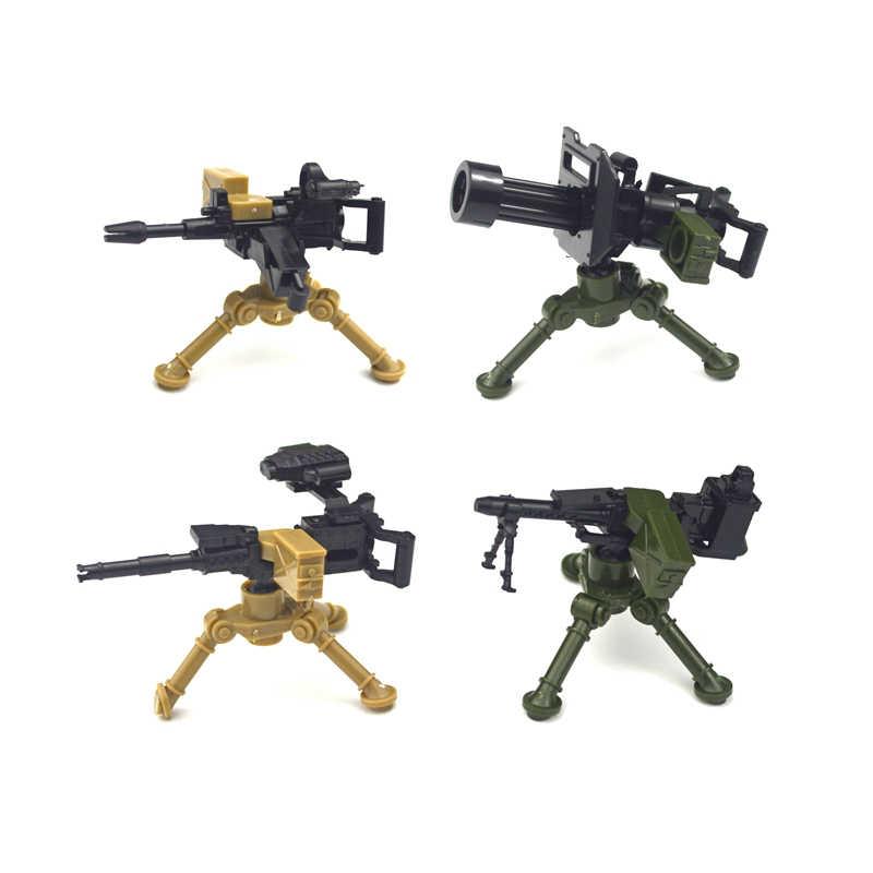 ملحقات PUBG سلاح Swat سلاح الجندي البنادق سياج قمامة الدعاوى الطوب WW2 أجزاء جيش MOC بنة سلسلة المشهد العسكري