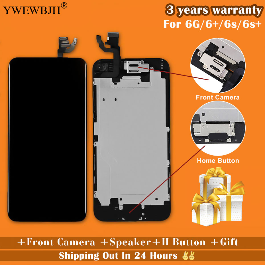 YWEWBJH AAA For iPhone 6 LCD Screen Full Assembly For 6 Plus 6s Display Touch Screen Replacement Display No Dead Pixel