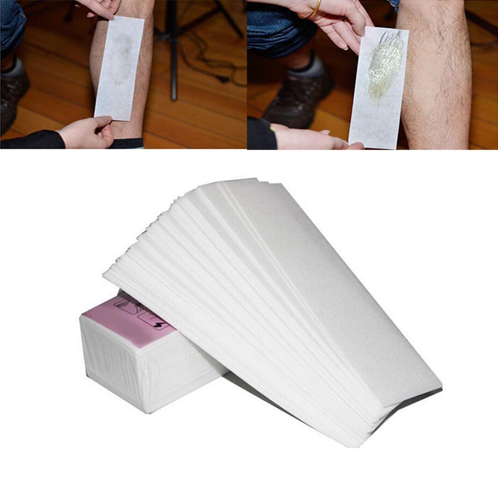 100Pcs Disposable Depilatory Nonwoven Strips Leg Arm Hair Wax Removal Epilator