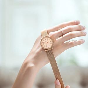 Image 4 - Relojes de pulsera con diamantes de imitación para mujer, de cuarzo japonés, informal, femenino