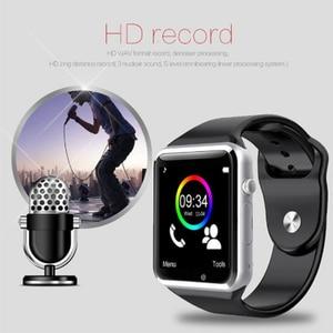 Image 5 - Montre Bracelet Bluetooth montre intelligente Sport podomètre Bracelet avec caméra SIM montre intelligente hommes femme pour Smartphone Android A1 1eh