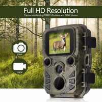 Mini Câmera Trilha Caça 12MP 1080P Câmera Scouting Vida Selvagem Ao Ar Livre com Sensor De PIR 0.45s Gatilho Rápido IP66 à prova d' água