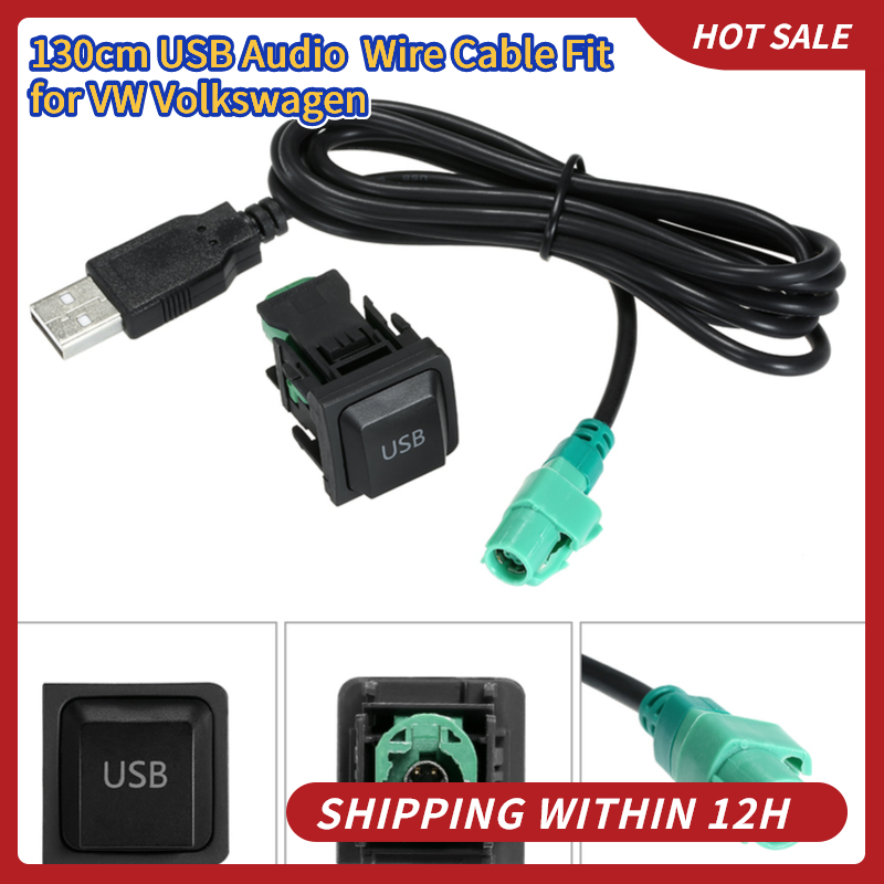 KKMOON 130 см USB аудиосистема кабель адаптер CD плеер радио провод кабель подходит для Фольксваген