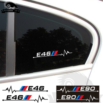 2pc car window glass sticker car body decal for BMW E28 E30 E34 E36 E37 E38 E39 E46 E60 E61 E62 E87 E90 E91 E92 F10 F20 F30 F31 image