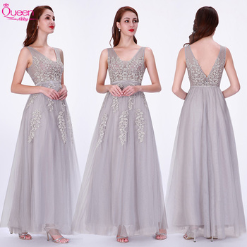 Evening Dresses Long O-Neck A-Line Starps Sexy Appliques Elegant Women Fancy Evening Ceremony Dress Gowns Fashion
