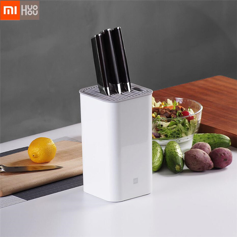 Original Xiaomi Huohou Kitchen Knife Holder Multifunctional Tool Hold For A Variety Of Knives Kitchen Accessories