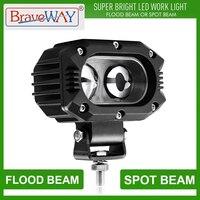 Braveway trabalho luz led faróis luz extra para o carro da motocicleta atv caminhão assistido lâmpada auxiliar de condução drl 12 v 24 v nevoeiro lâmpada   -