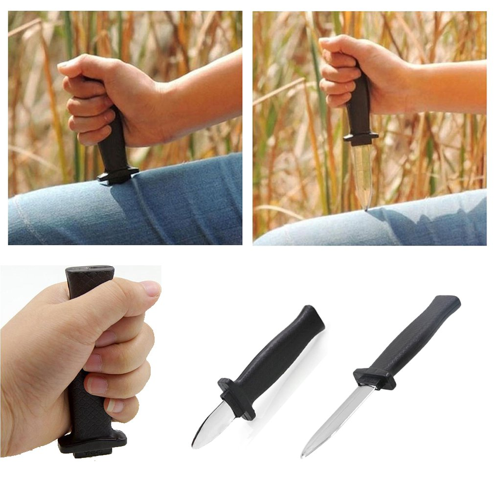 Hot Halloween Supplies Comedy Magic Plastic Retractable Dagger Joke Prank Props Knife Scary Trick Party Decoration Fake Dagger