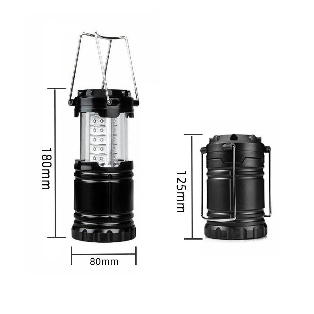 Купить с кэшбэком 30LED Camping Light LED Lantern Battery Light Retractable Portable LED Tent Light Work Lamp for Camping Hiking Fishing linternas
