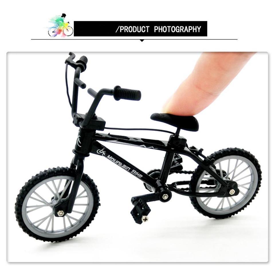 Mini Finger BMX Bicycle Flick Trix Finger Bikes Toys Novelty Gag Toy Kid Gift YT