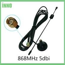 868 МГц 900-1800 МГц GSM антенна 3g 5dbi SMA Male с кабелем 300 см 868 МГц 915 МГц antena присоска антенна База Магнитные антенны