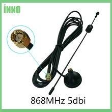 868 mhz antena 900 - 1800 mhz gsm 3g 5dbi sma macho com cabo de 300cm 868 mhz 915 mhz antena otário antena base antenas magnéticas