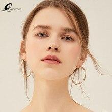 Moda círculo grande brincos para mulher estilo coreano piercing moda coreana orecchini earing jóias brincos 2020 boucle doreille